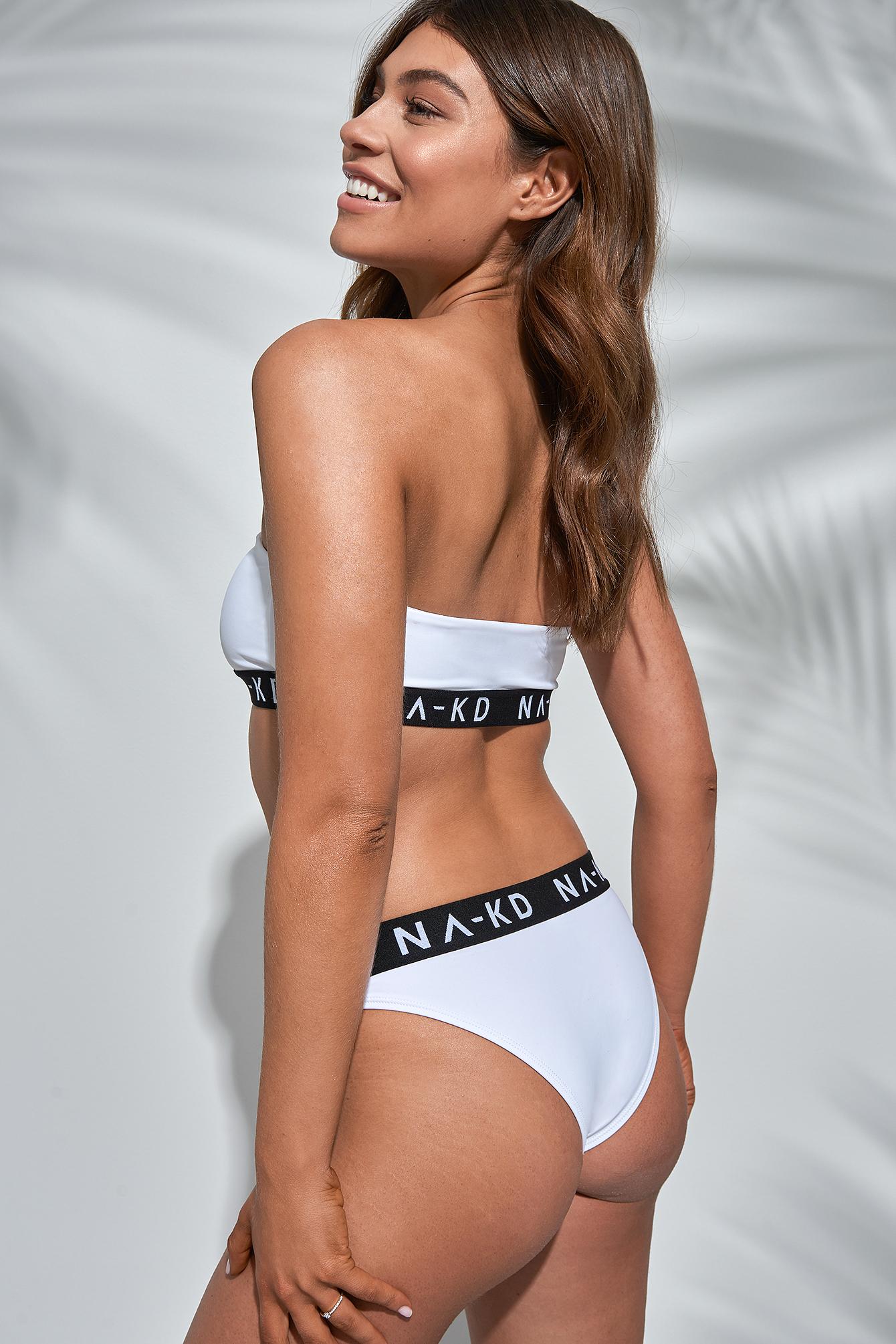 Sporty Logo Bandeau Bikini Top NA-KD.COM