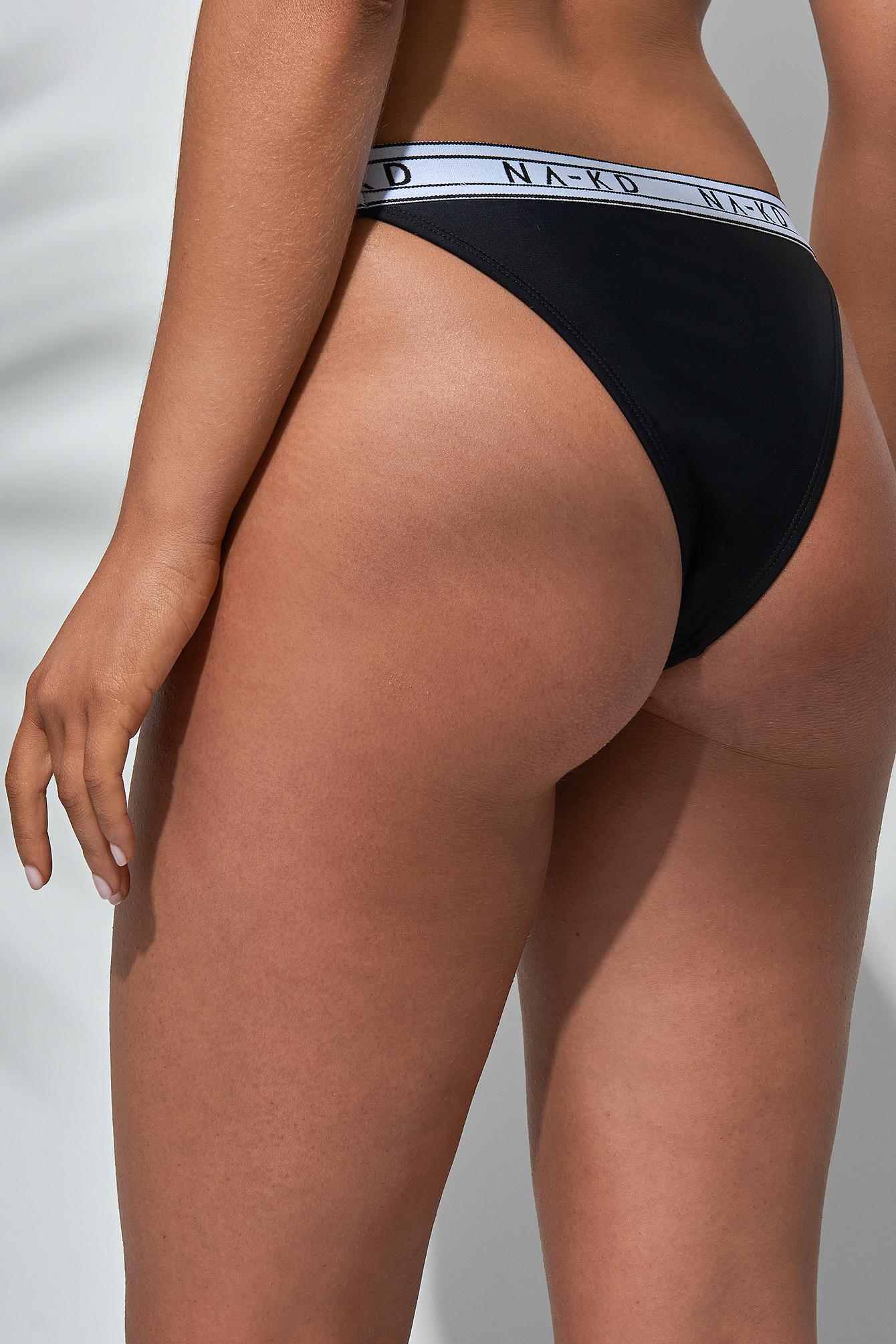 Sporty Logo Bikini Briefs NA-KD.COM