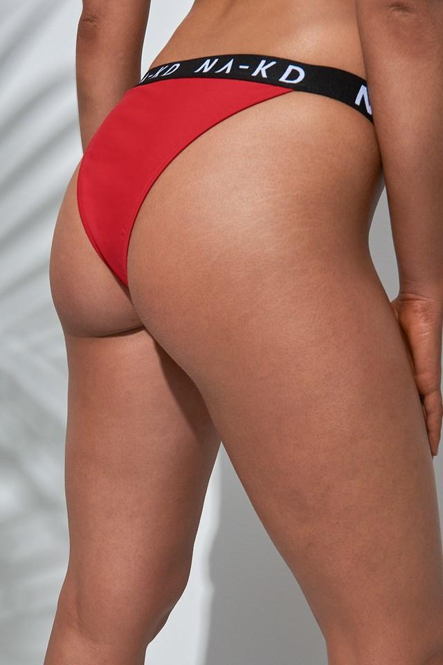 Sporty Logo Bikini Panty NA-KD.COM