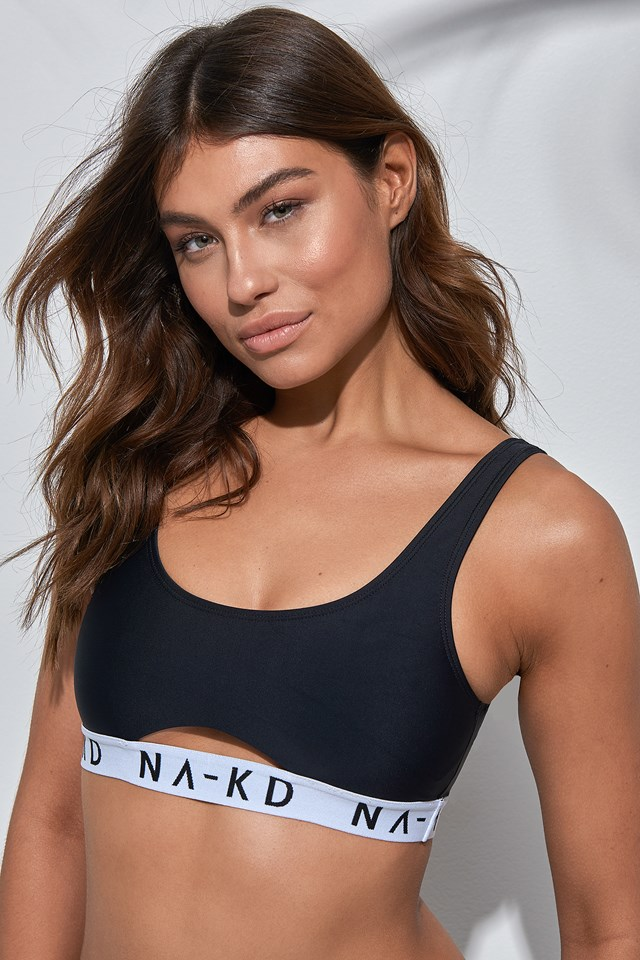 Sporty Logo Bikini Top NA-KD Swimwear
