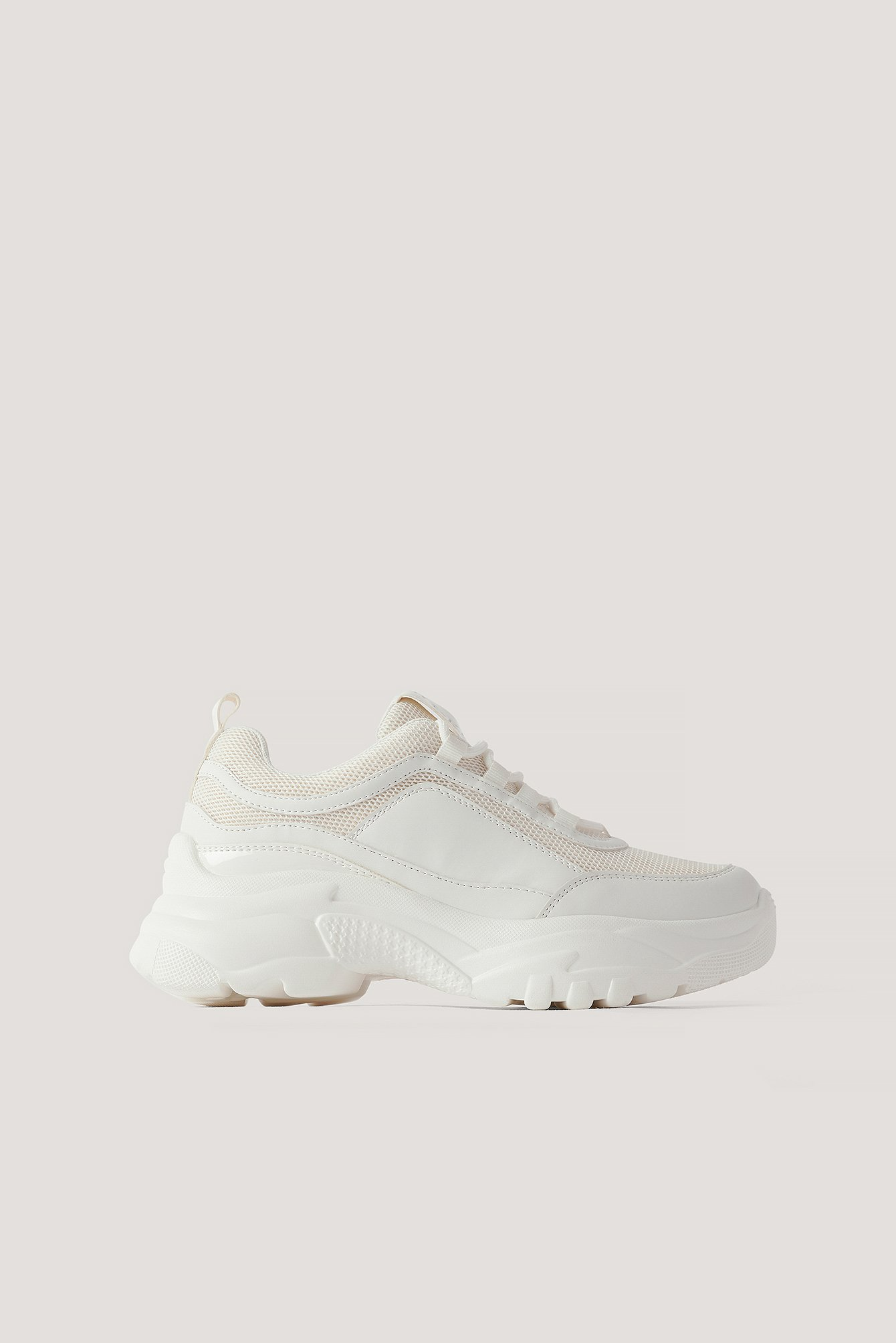White Sporty Mesh Trainers