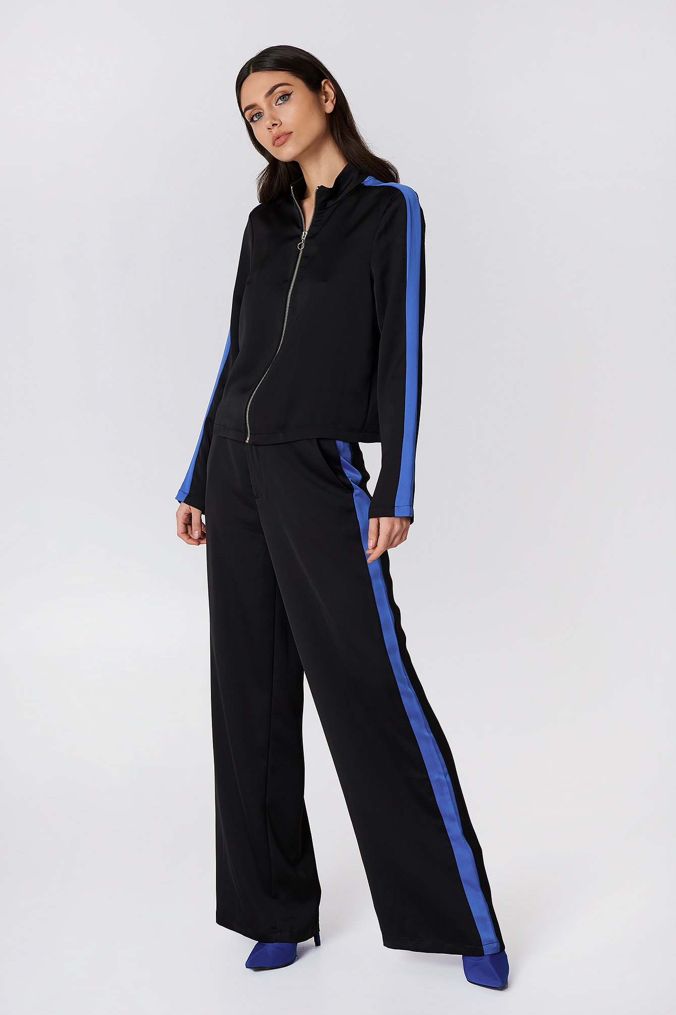 Sporty Striped Wide Pants NA-KD.COM