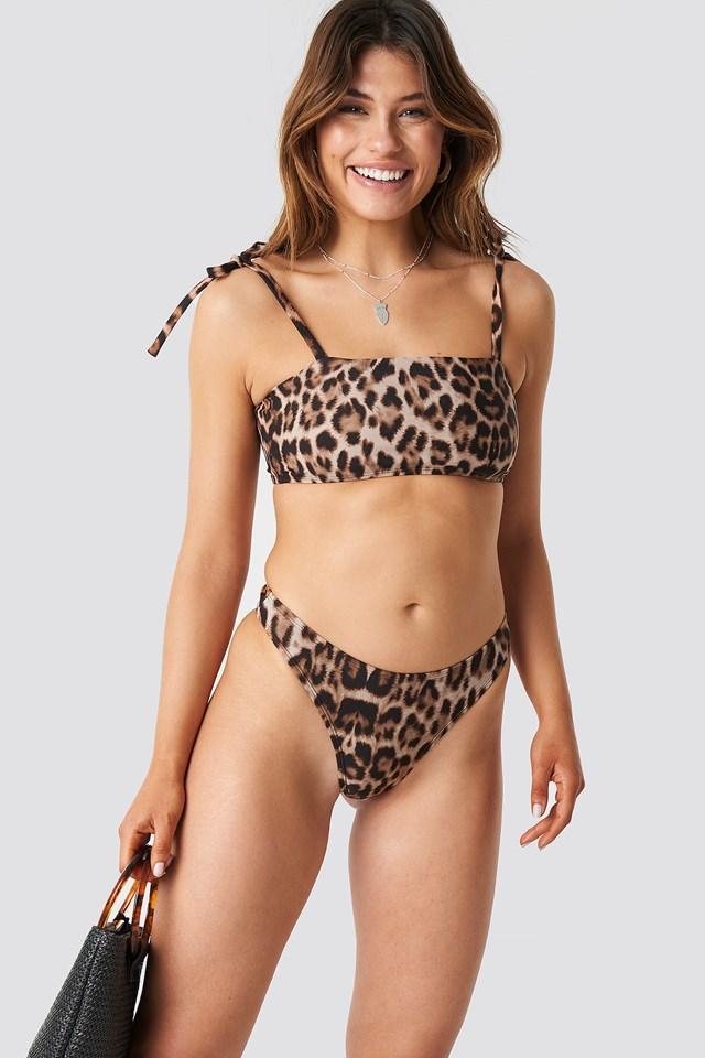 Square Bikini Top Leo