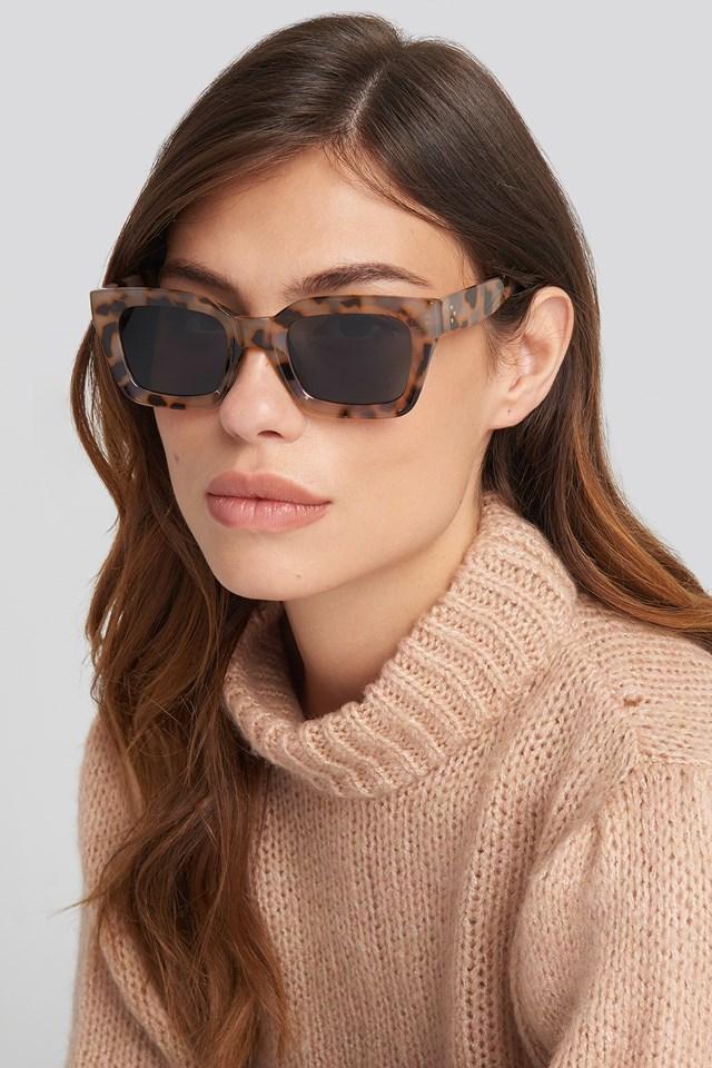 Square Frame Sunglasses Nude Tortoise