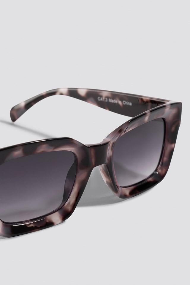 Square Frame Sunglasses Tortoise