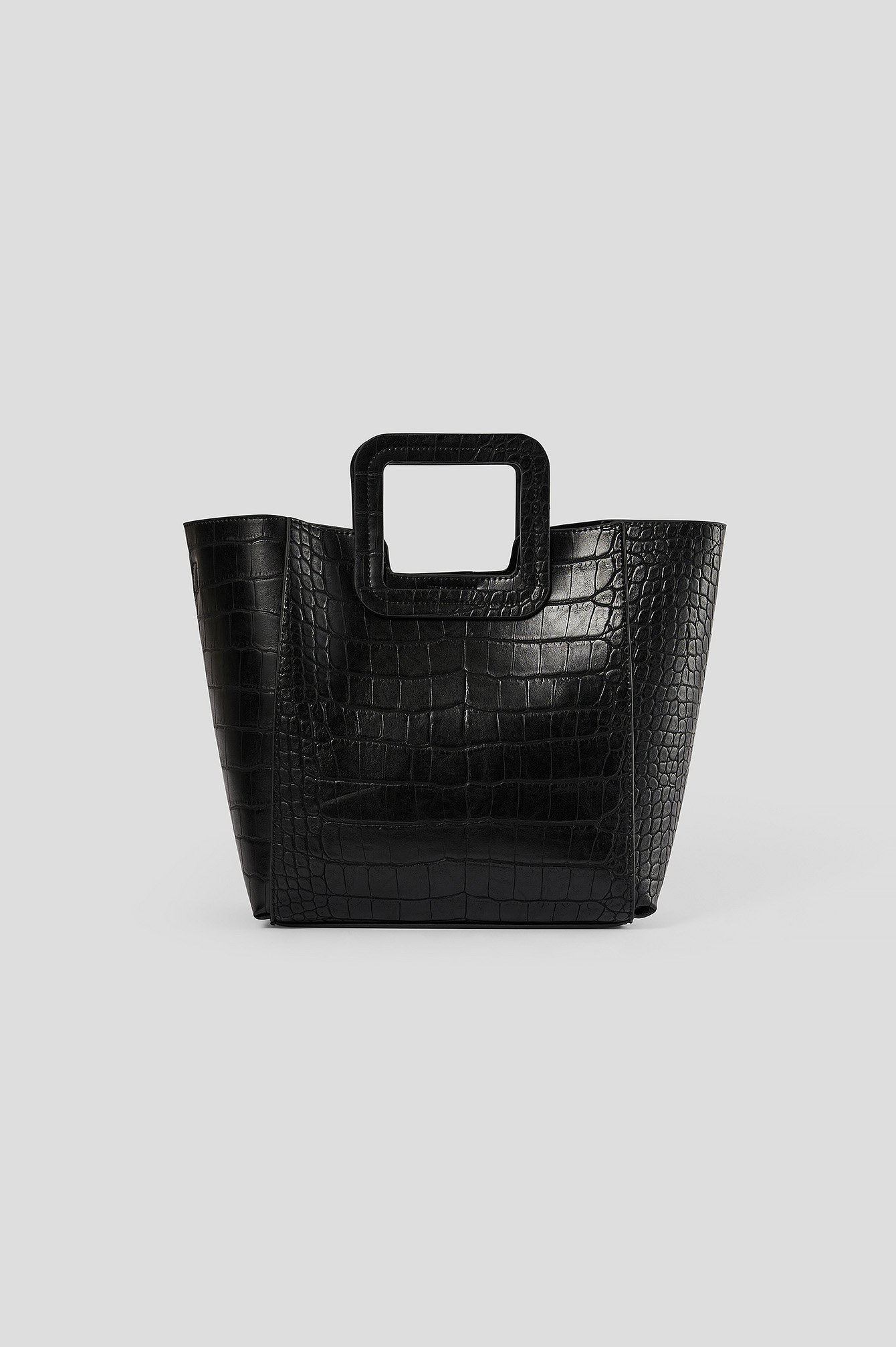 Black Squared Handle Shopper