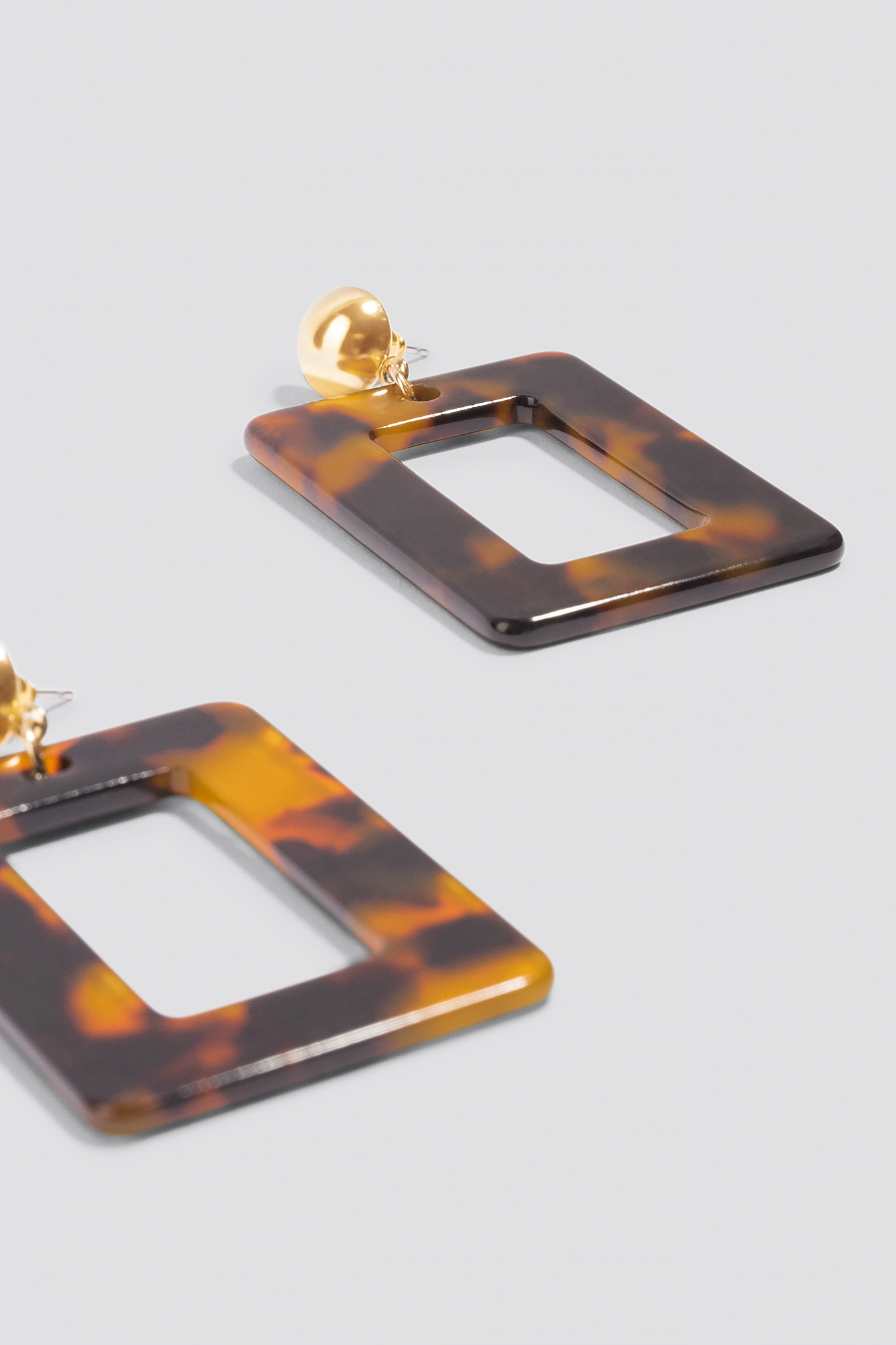 Square Hanging Resin Earrings NA-KD.COM