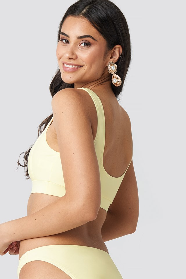 Square Neck Bandeau Top Cream