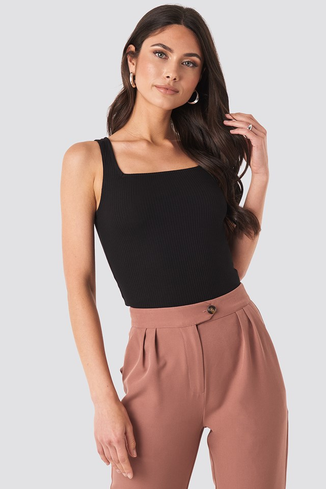 Square Neck Sleeveless Top NA-KD Trend