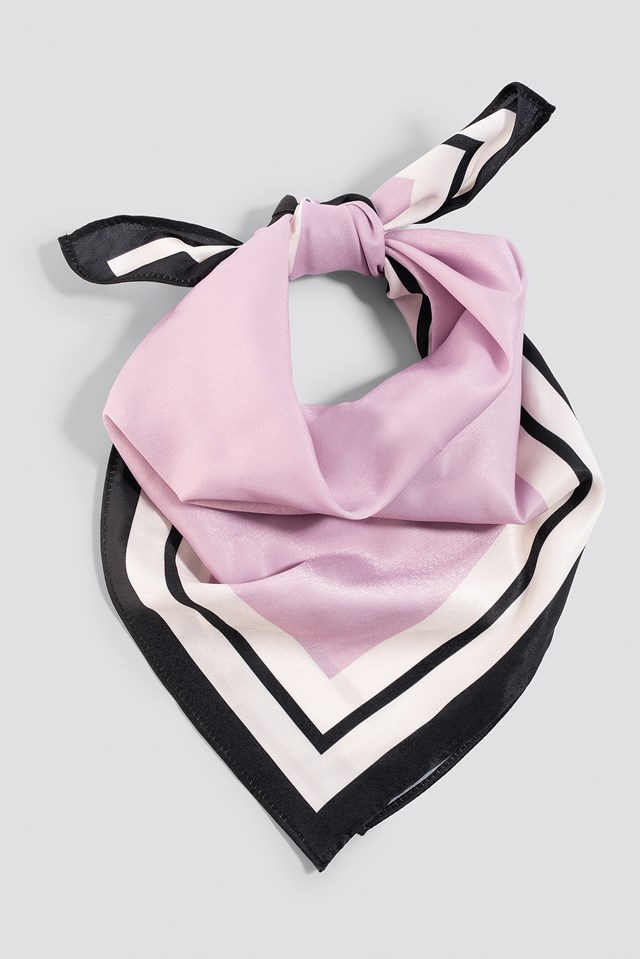 Square Satin Scarf Lilac