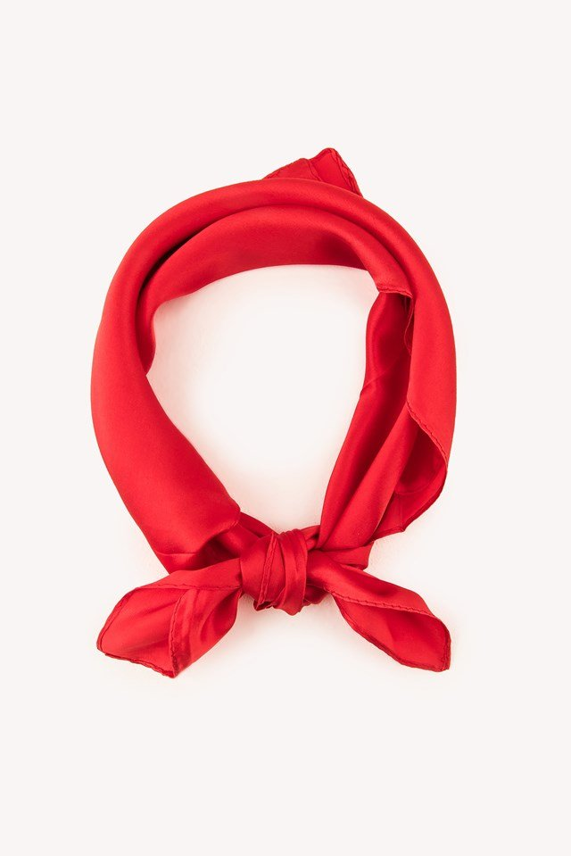 Square Silk Scarf Red