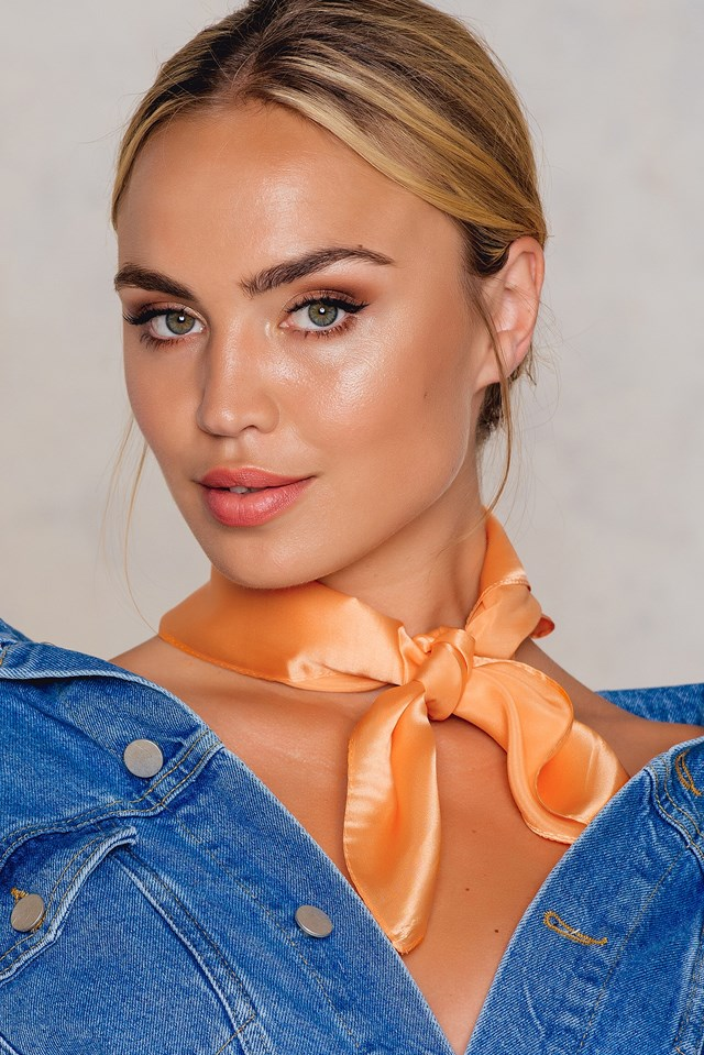 Square Silk Scarf Orange