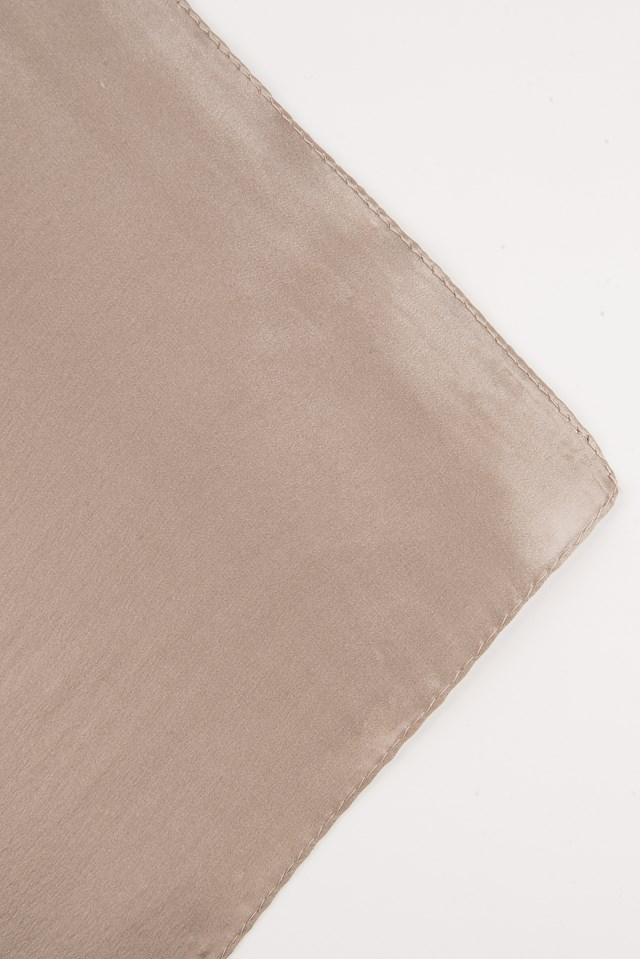 Square Silk Scarf Dark Sand