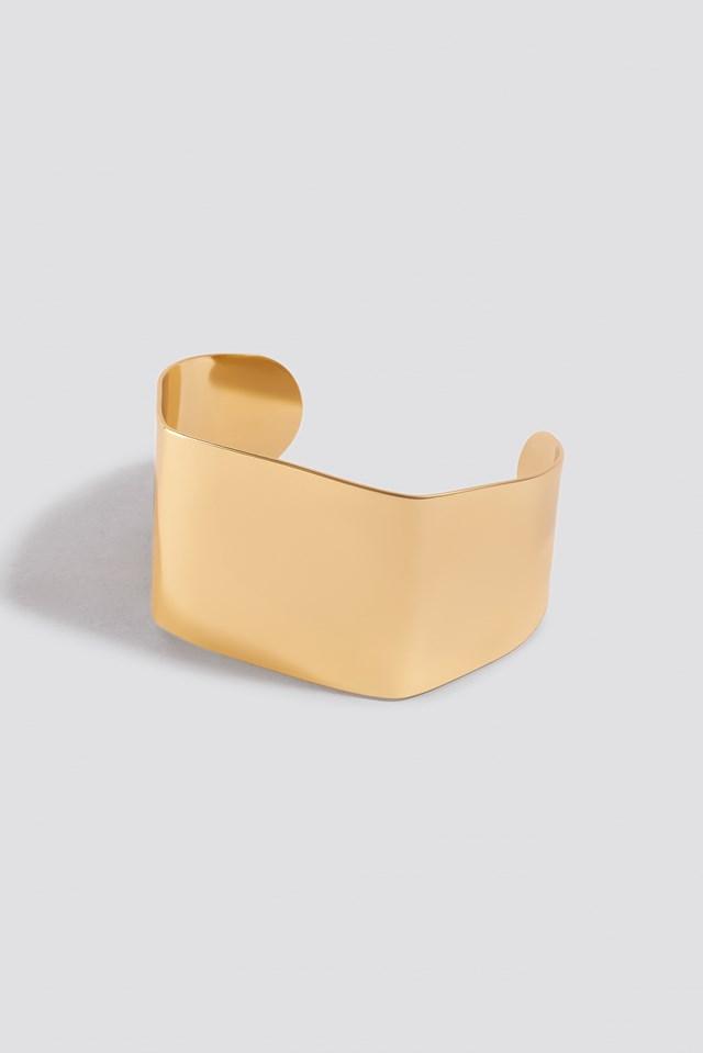 Squared Bangle Gold
