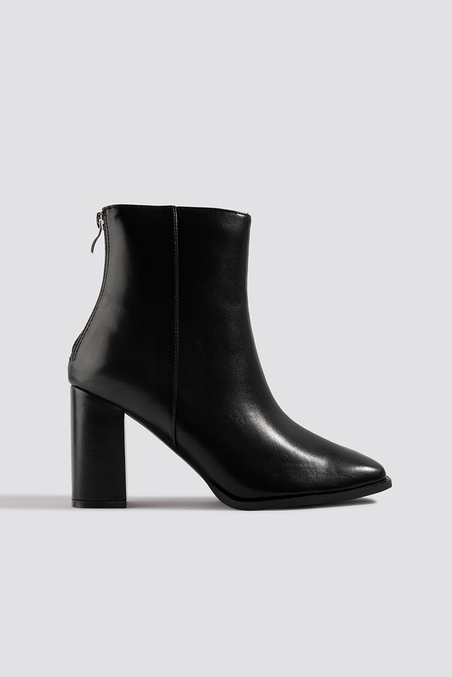 Squared Front Ankle Boots NA-KD Shoes