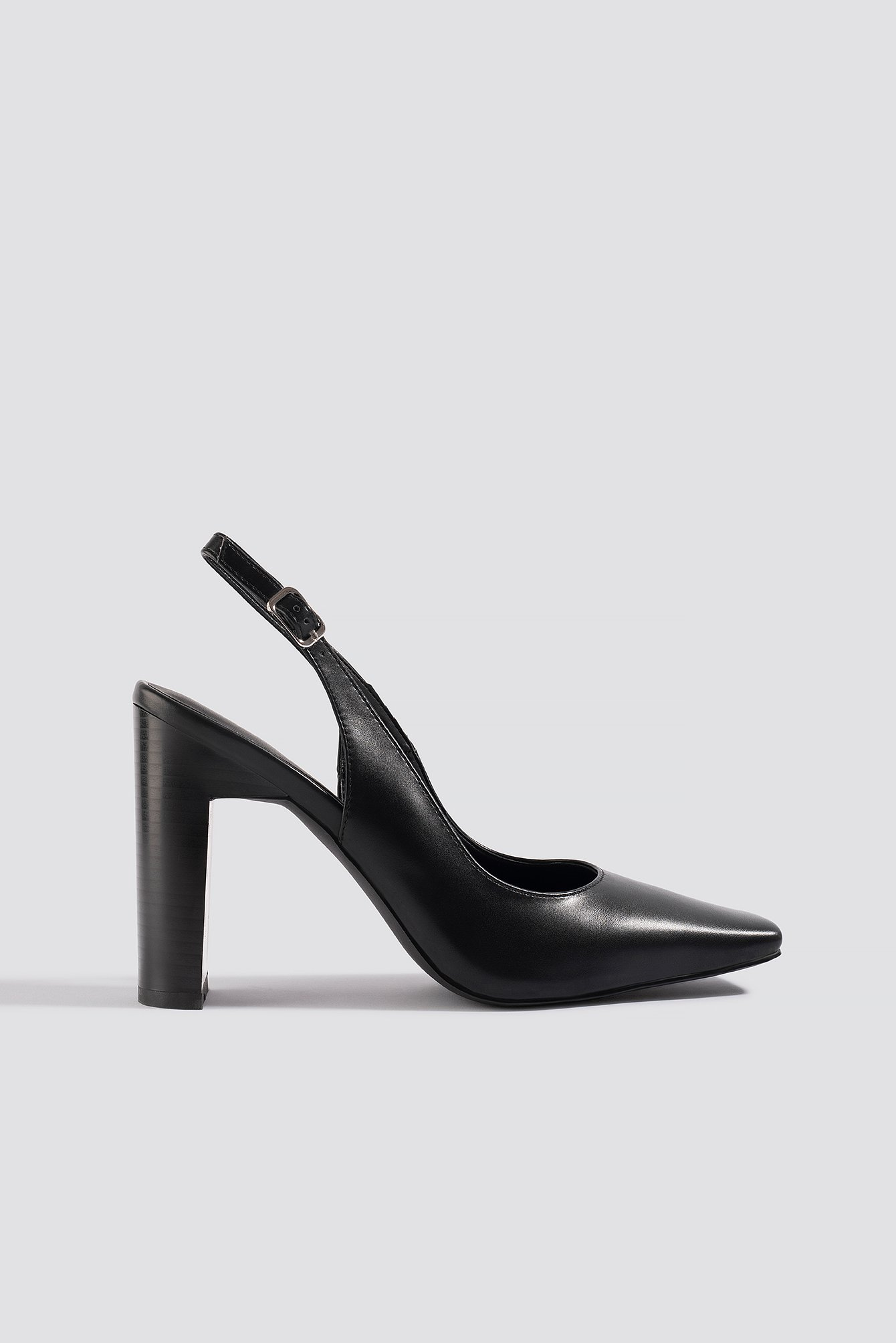 na-kd shoes -  Squared Front Slingback Pumps - Black