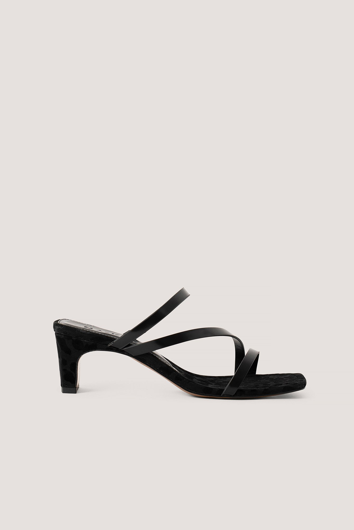 na-kd shoes -  Eckige Riemchensandalen - Black