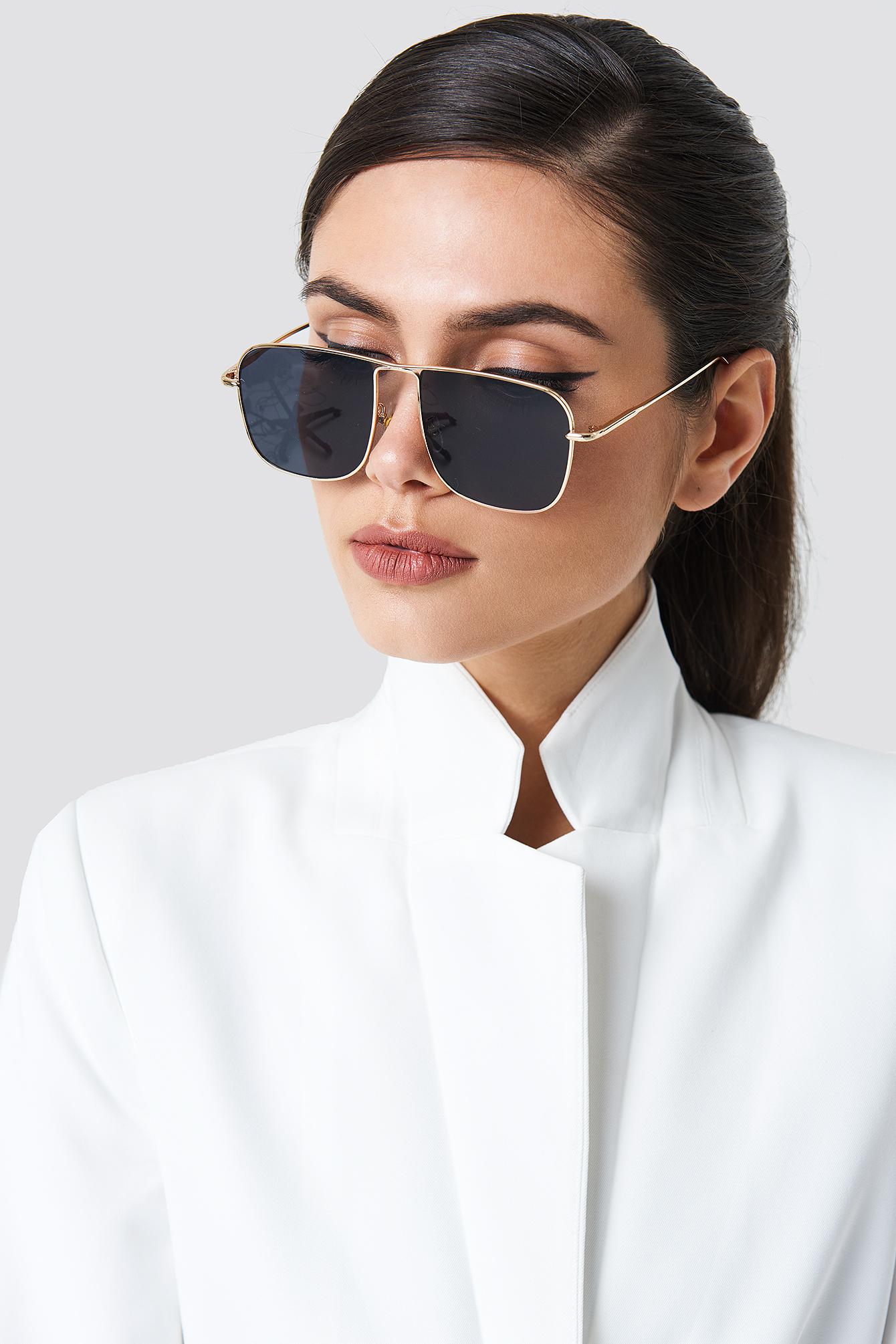 Squared Metal Sunglasses NA-KD.COM