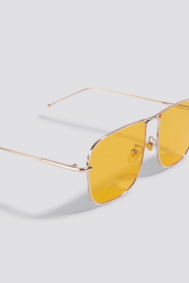 Squared Metal Sunglasses Yellow