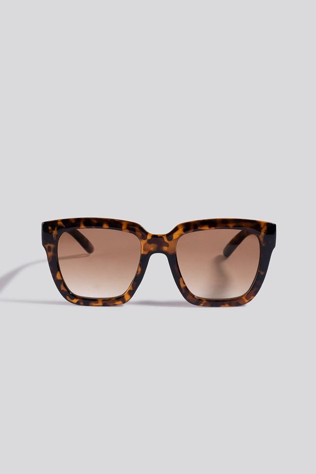 Squared Oversized Sunglasses Leopard