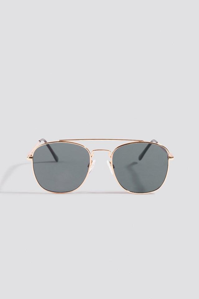 Squared Pilot Sunglasses Gold