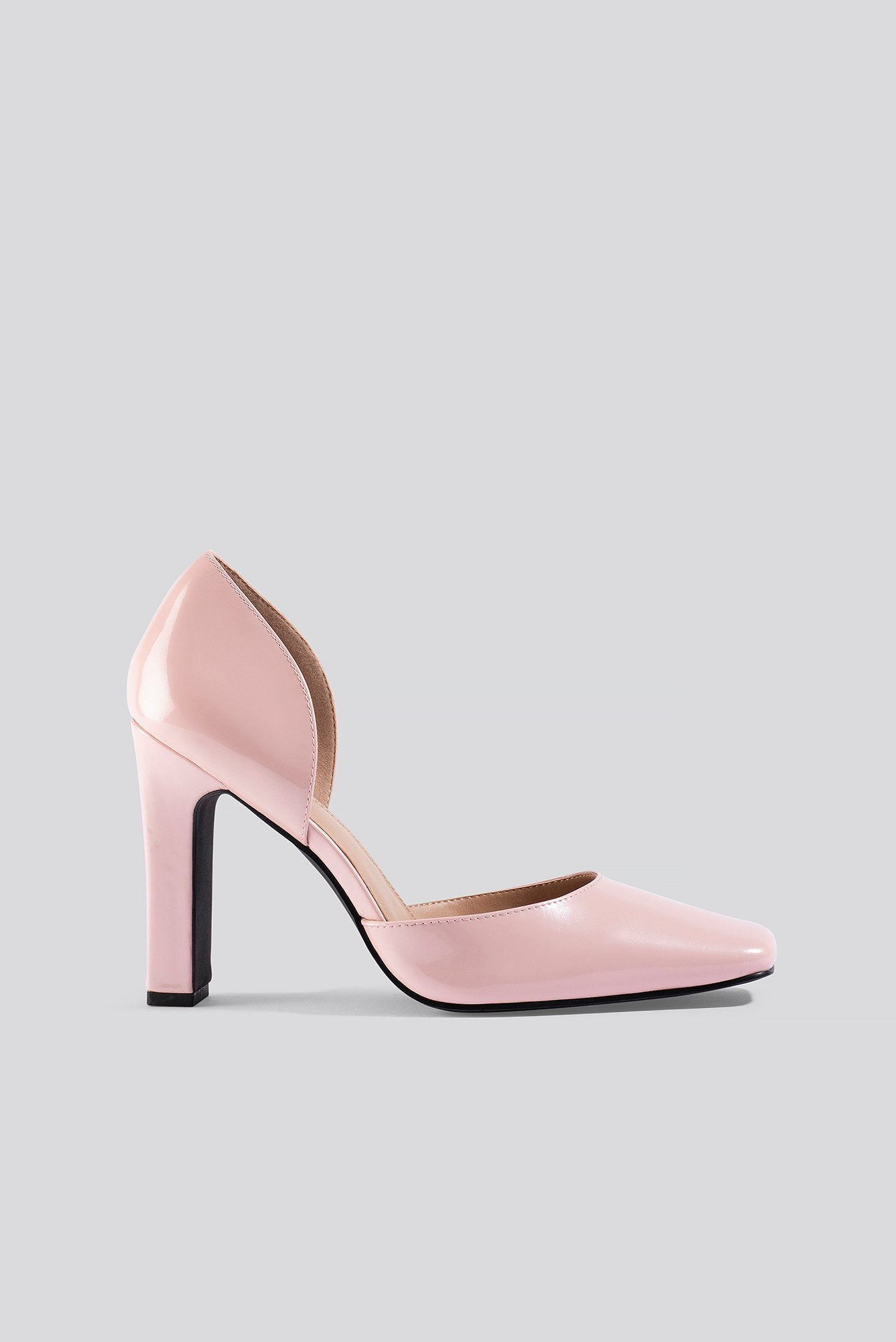 Dusty Pink Squared Pumps