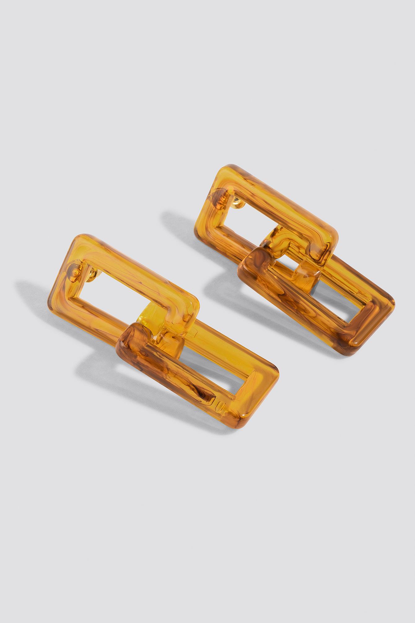 Squared Resin Chain Earrings NA-KD.COM