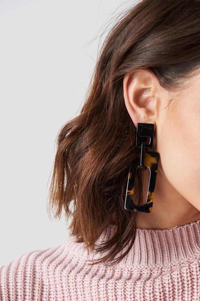Squared Resin Earrings NA-KD.COM