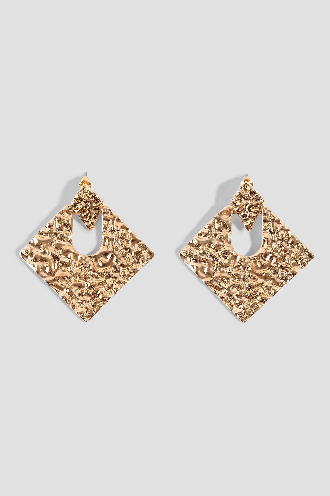 Squared Structured Earrings NA-KD.COM