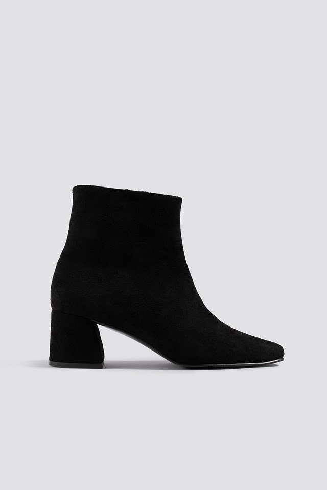 Squared Toe Basic Boots NA-KD Shoes