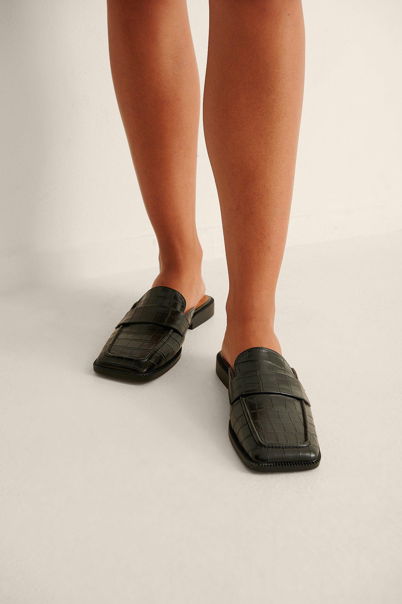 na-kd shoes -  Halbschuhe Mit Eckiger Spitze - Black