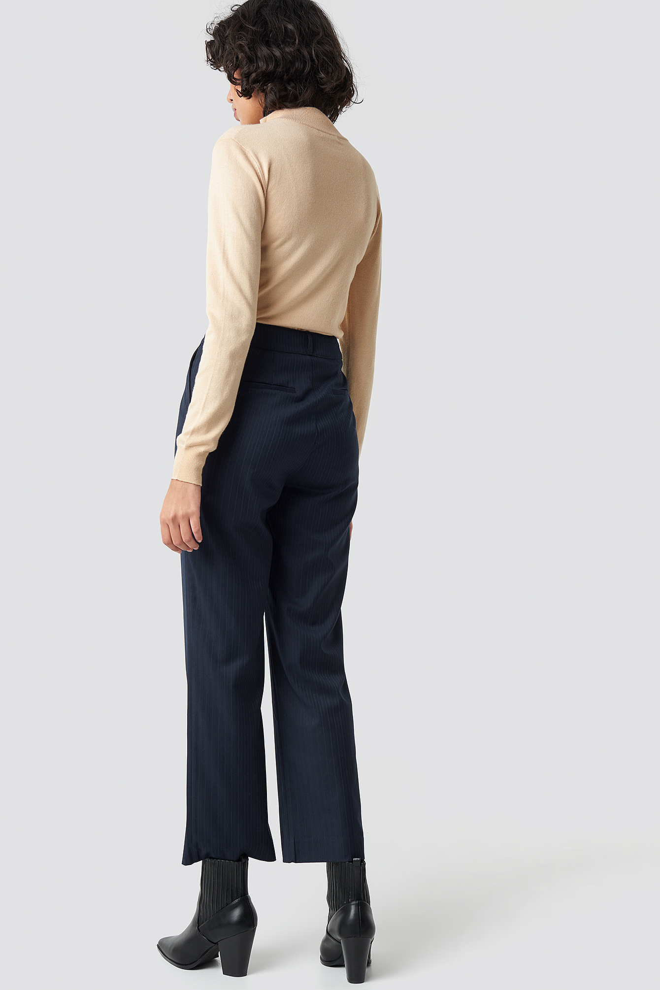 Straight Cropped Striped Suit Pants NA-KD.COM