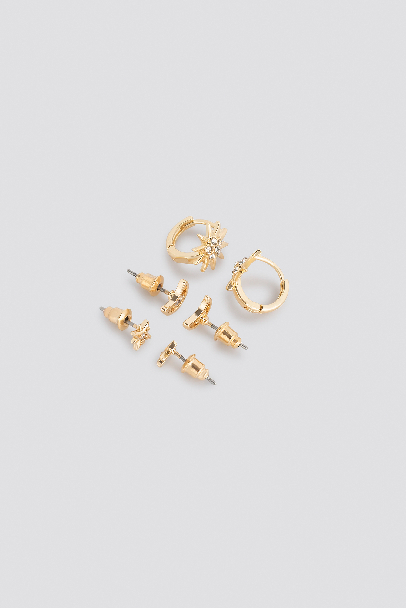 Star And Moon Stud Set NA-KD.COM
