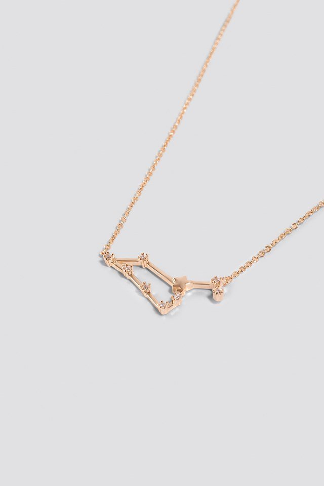 Star Sign Leo Necklace Gold