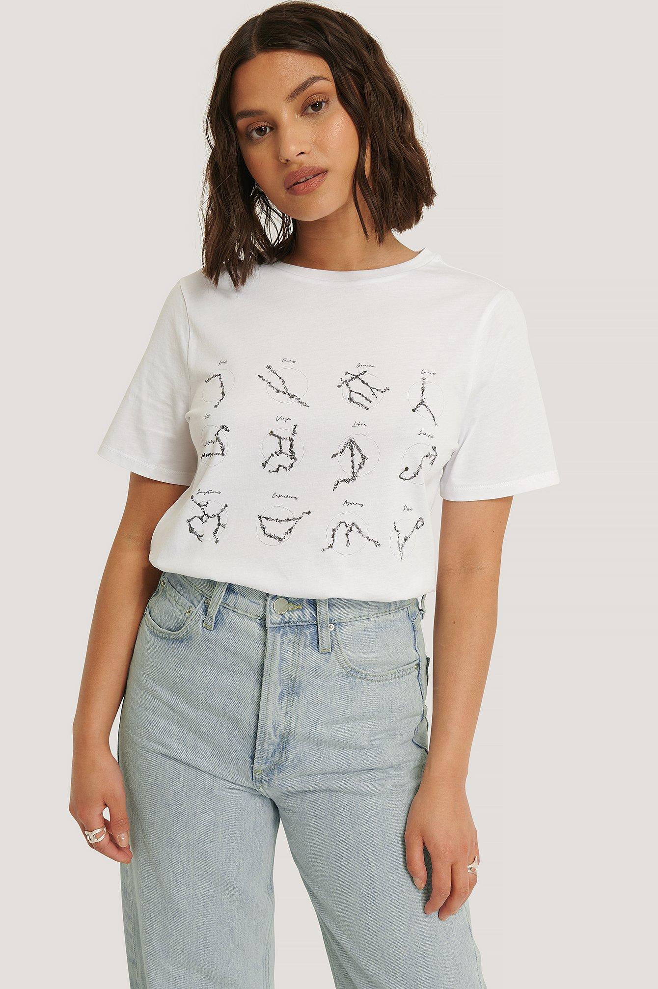 NA-KD Reborn T-Shirt Mit Aufdruck - White | Bekleidung > Shirts > T-Shirts | NA-KD Reborn