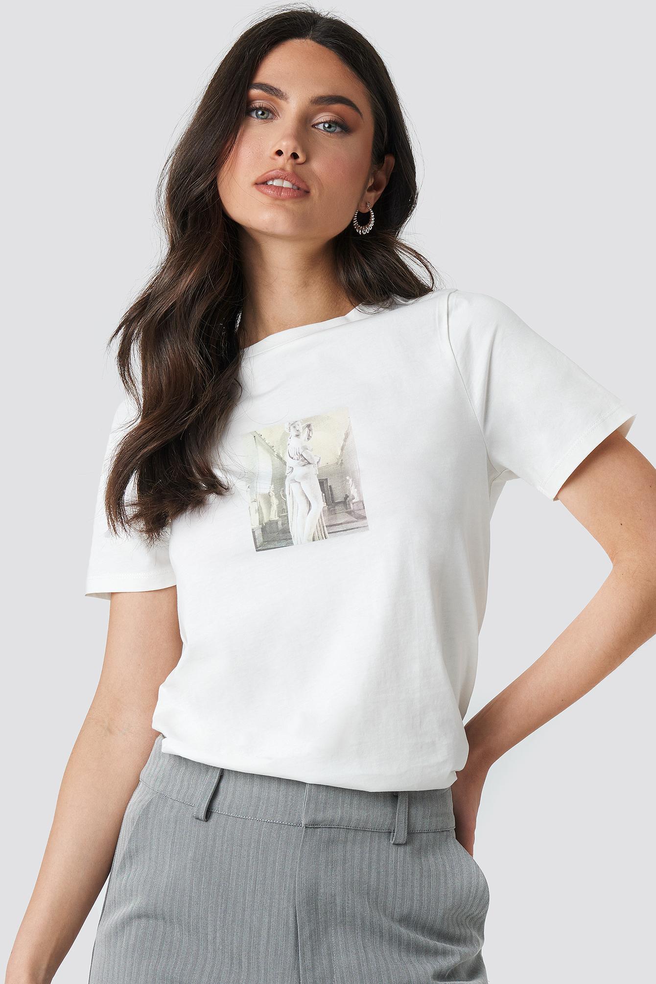 na-kd trend -  Statue T-shirt - White