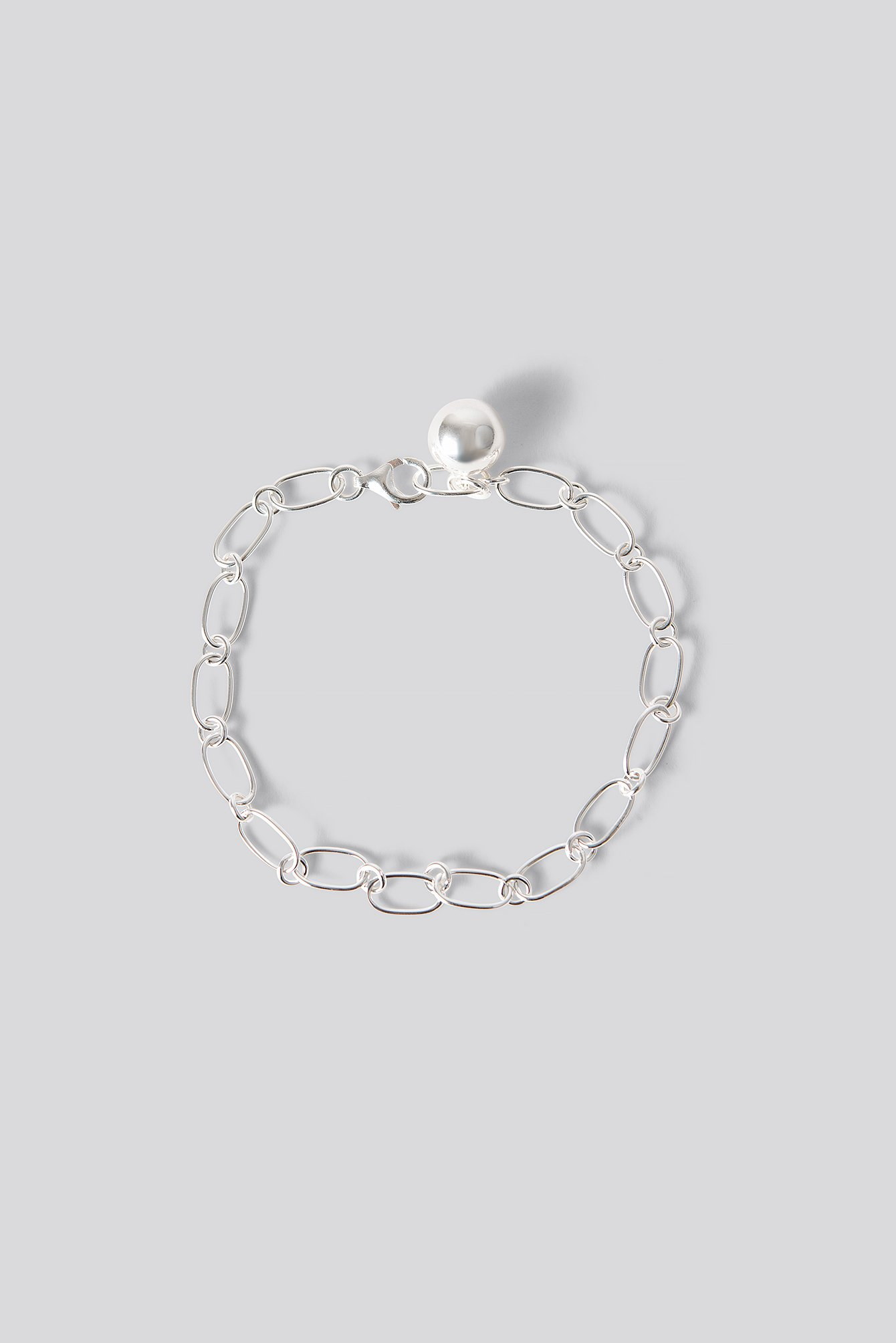 na-kd accessories -  Sterling Silver Thin Chain Bracelet - Silver