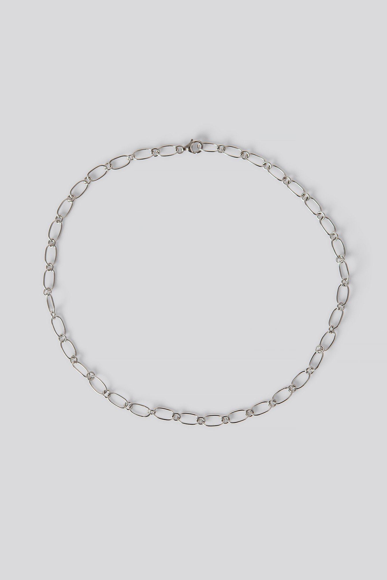 na-kd accessories -  Sterling Silver Thin Chain Necklace - Silver