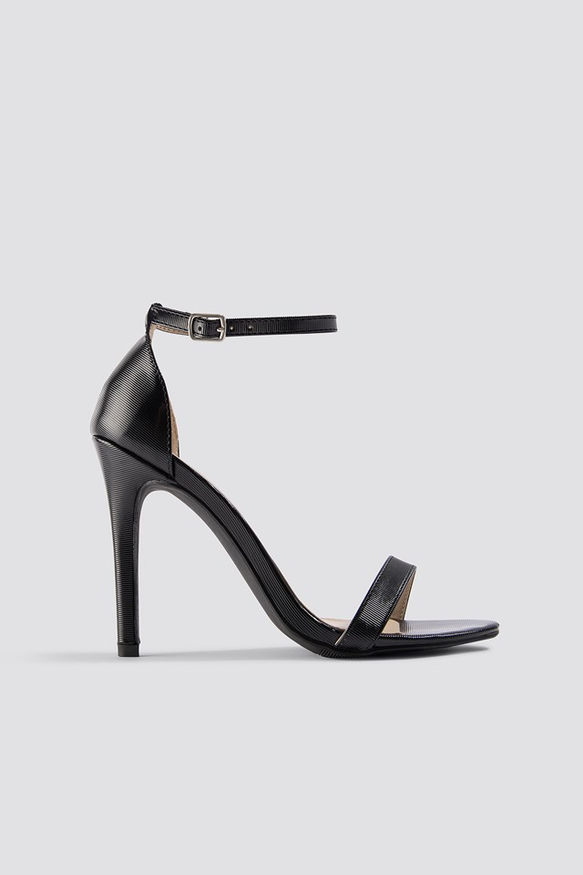 Stiletto Sandal Black