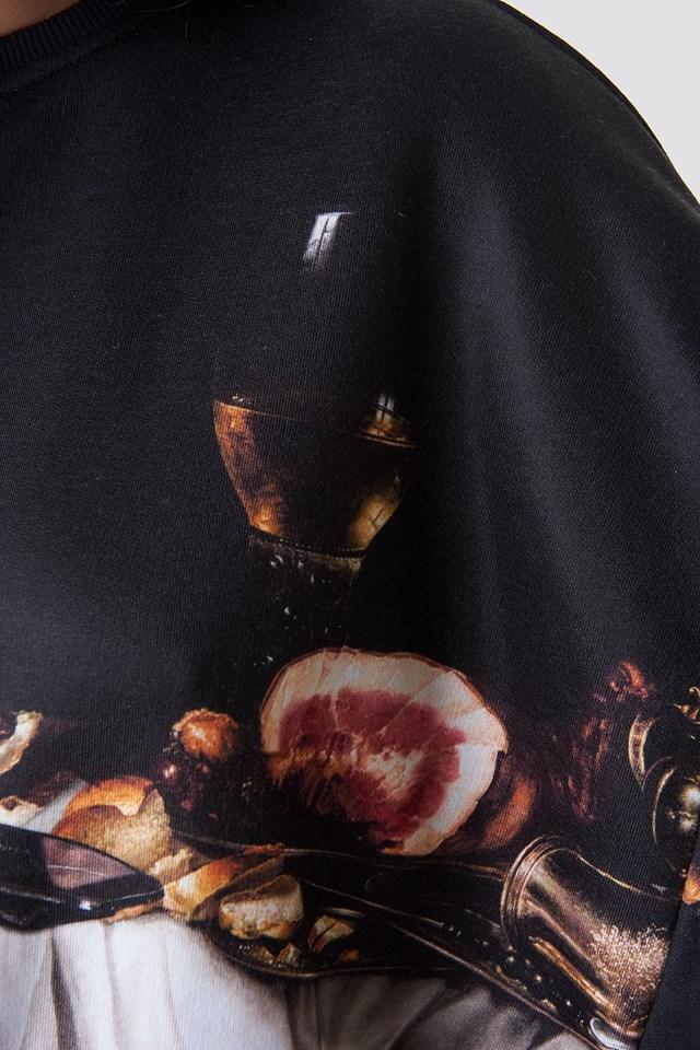 Still Life Batwing Sweatshirt Black
