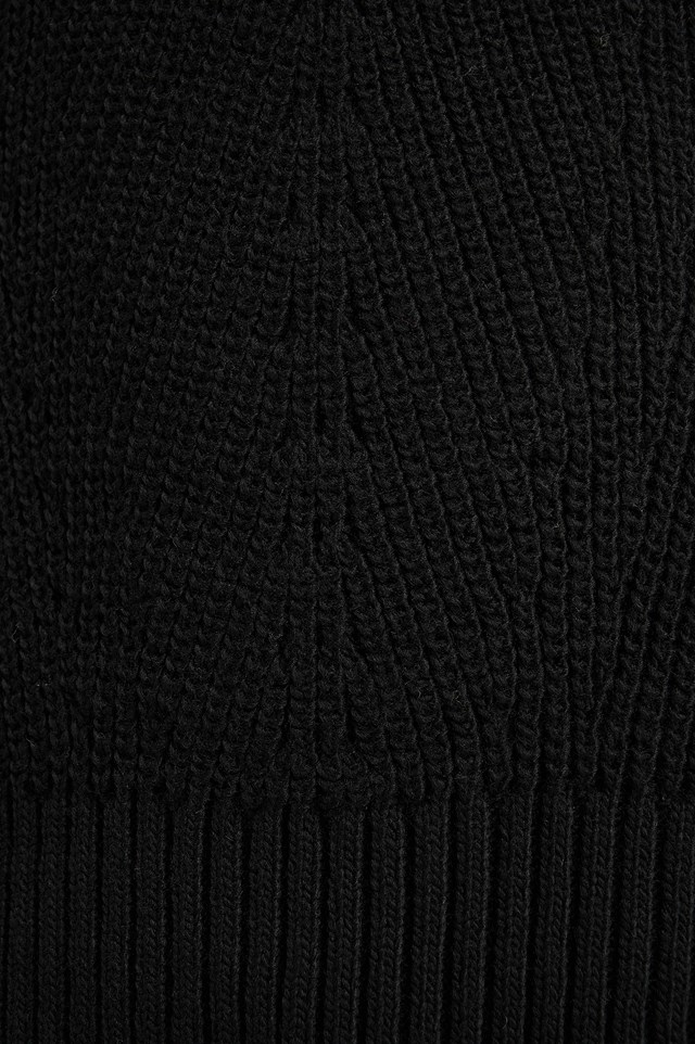 Stitch Detail Sweater Black