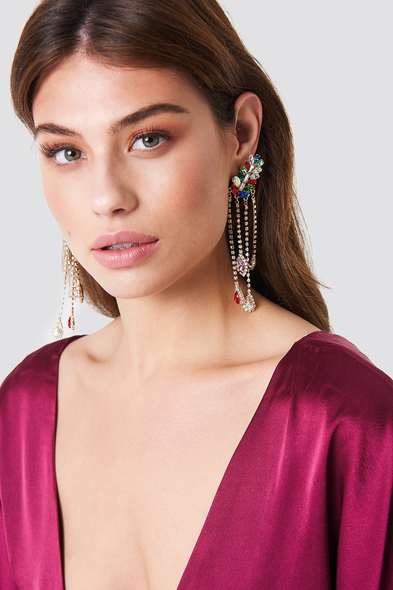 Multicolor Stone Detail Earrings