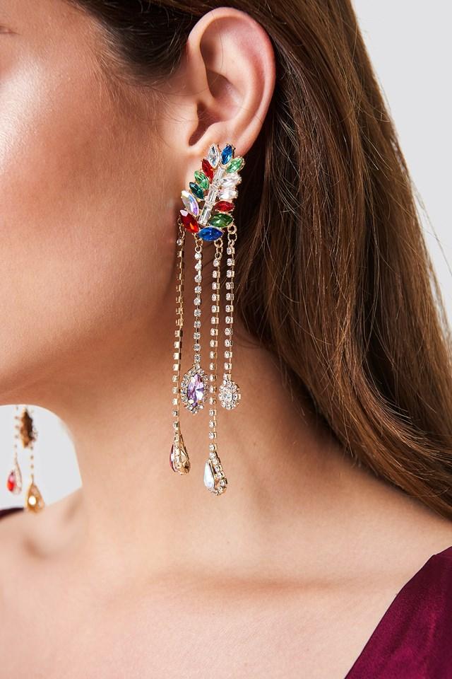 Stone Detail Earrings Multicolor