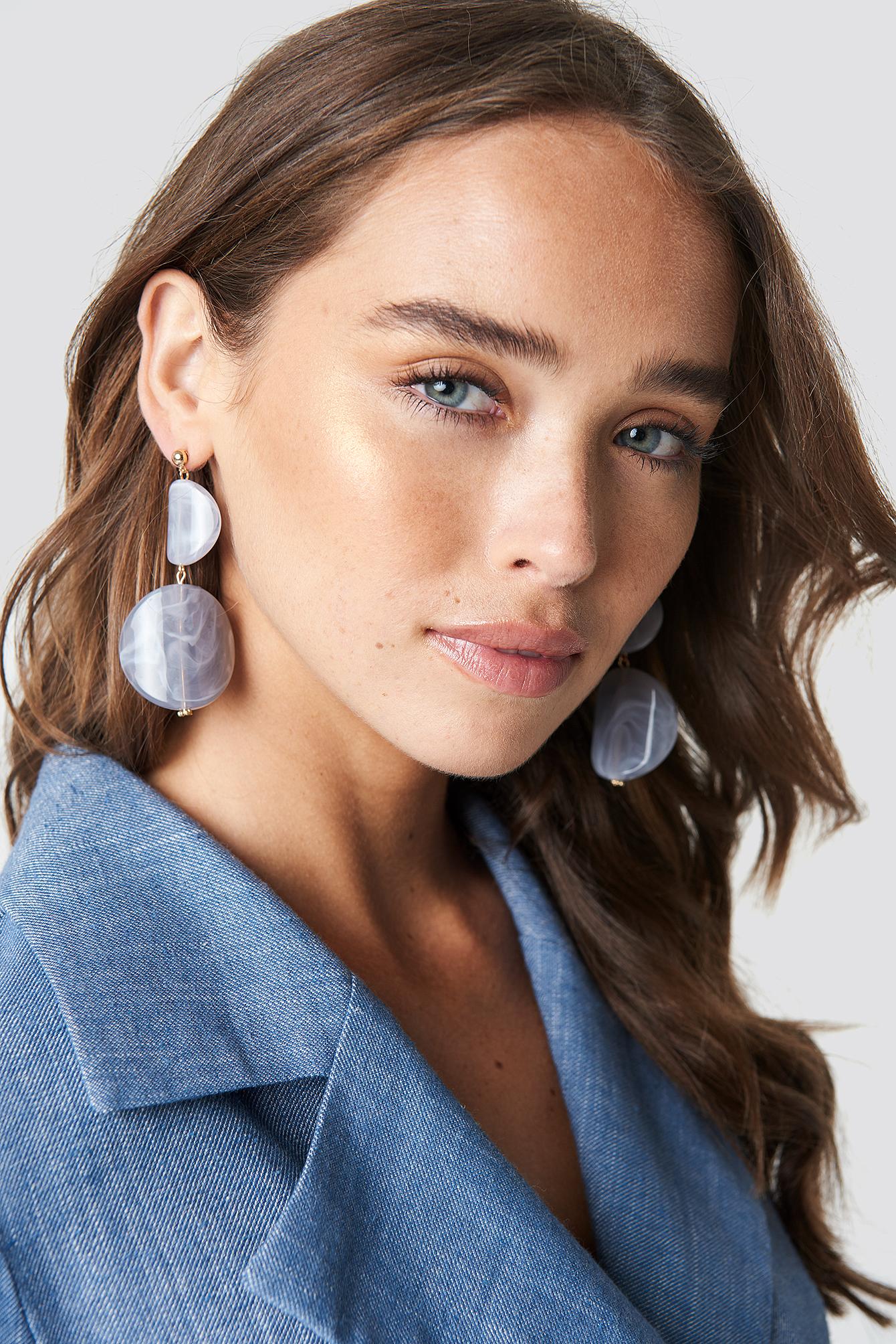 na-kd accessories -  Stone Look Earrings - Grey