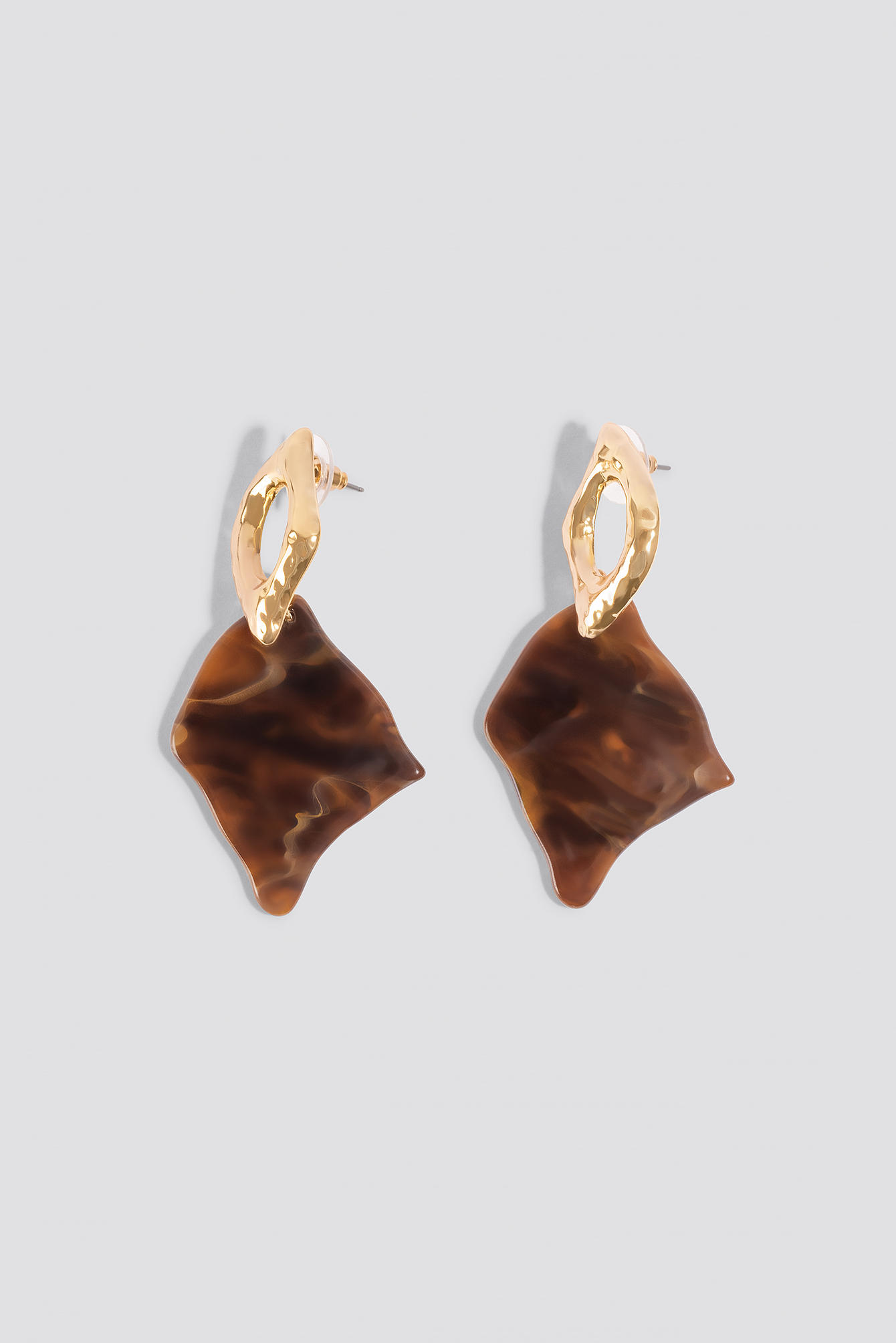 Stone Look Rhombus Earrings NA-KD.COM