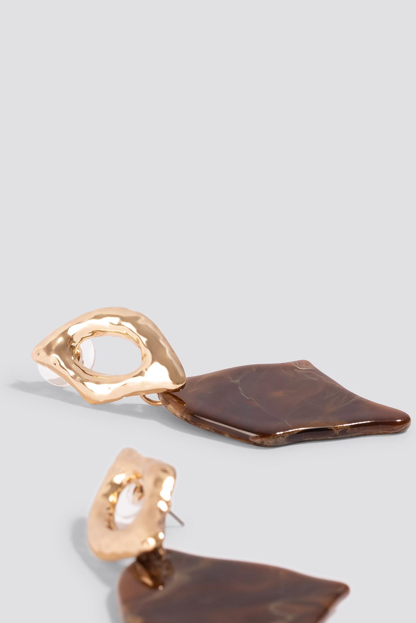 Stone Look Rhombus Earrings NA-KD.COM
