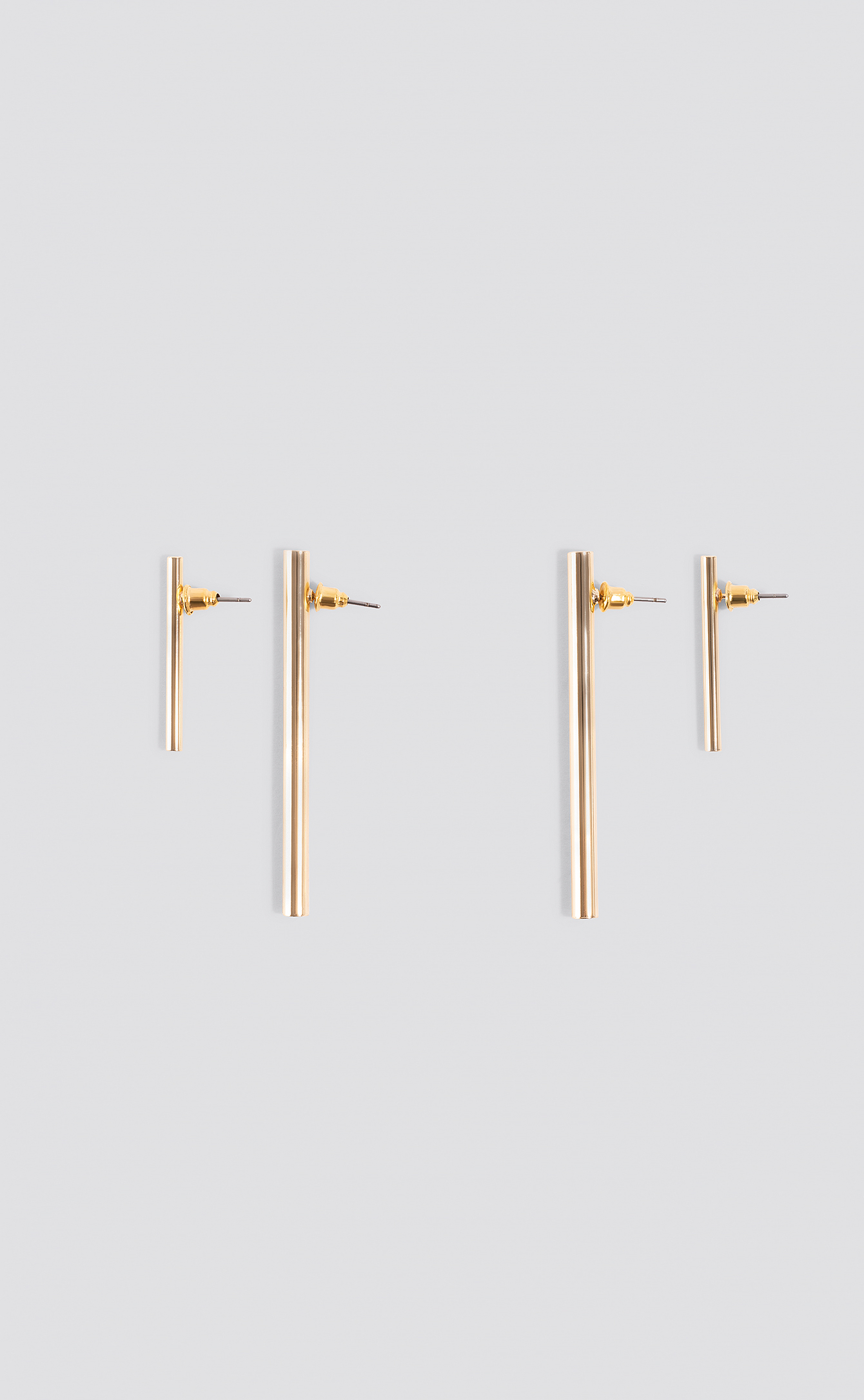 Straight Bar Earrings (Double Pack) NA-KD.COM