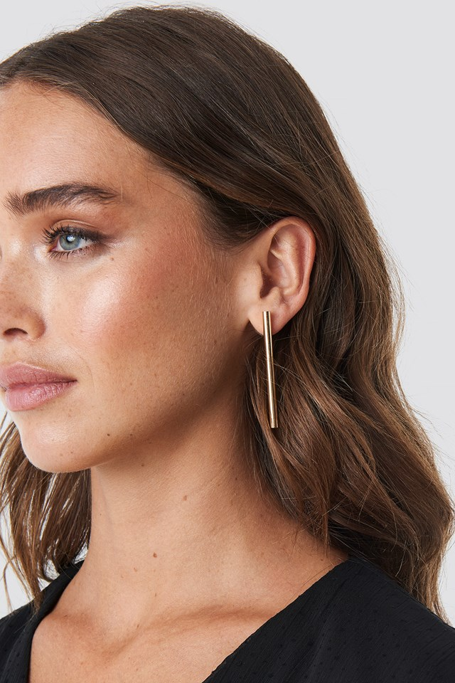 Straight Bar Earrings (Double Pack) NA-KD Accessories