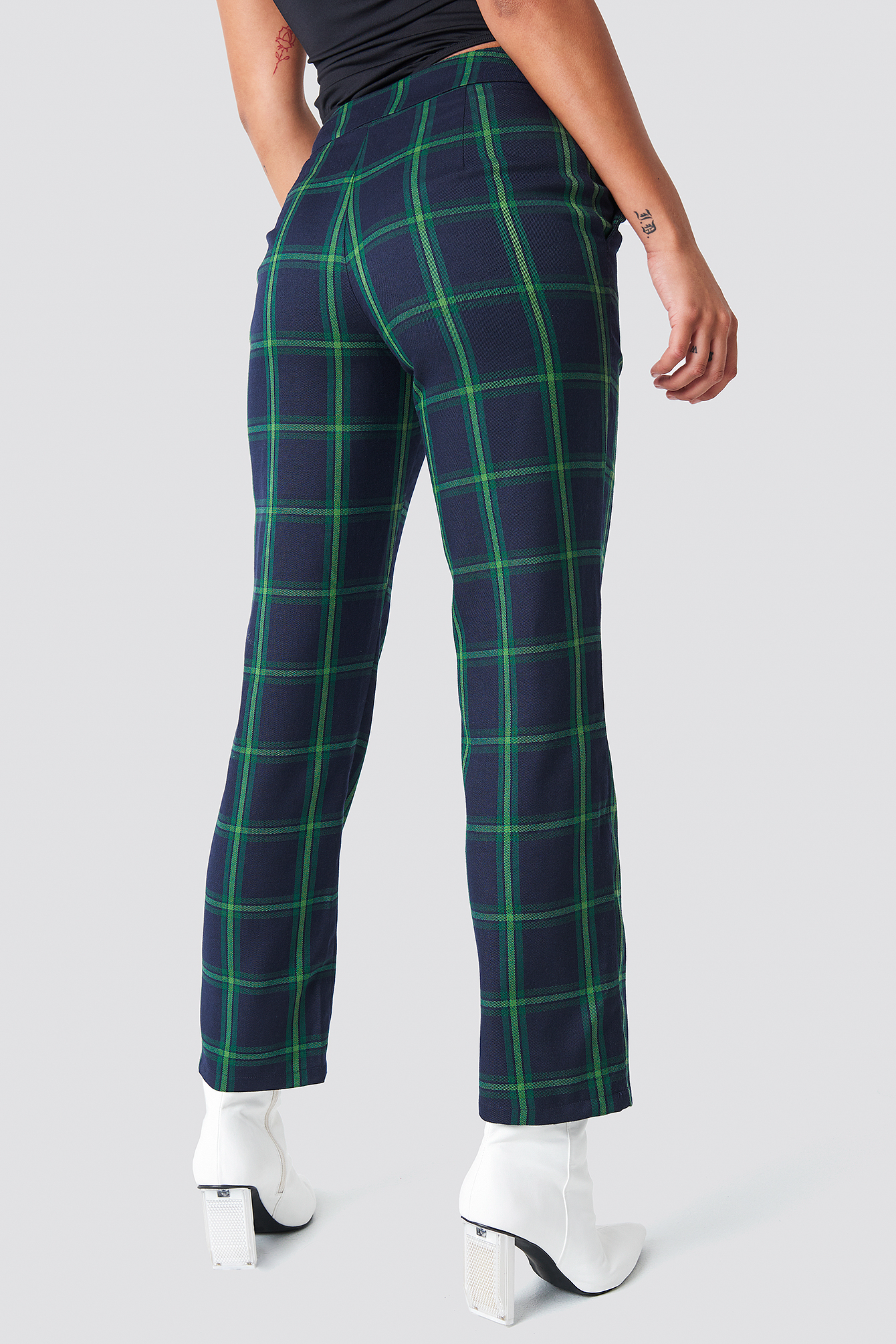 Straight Checkered Suit Pants NA-KD.COM