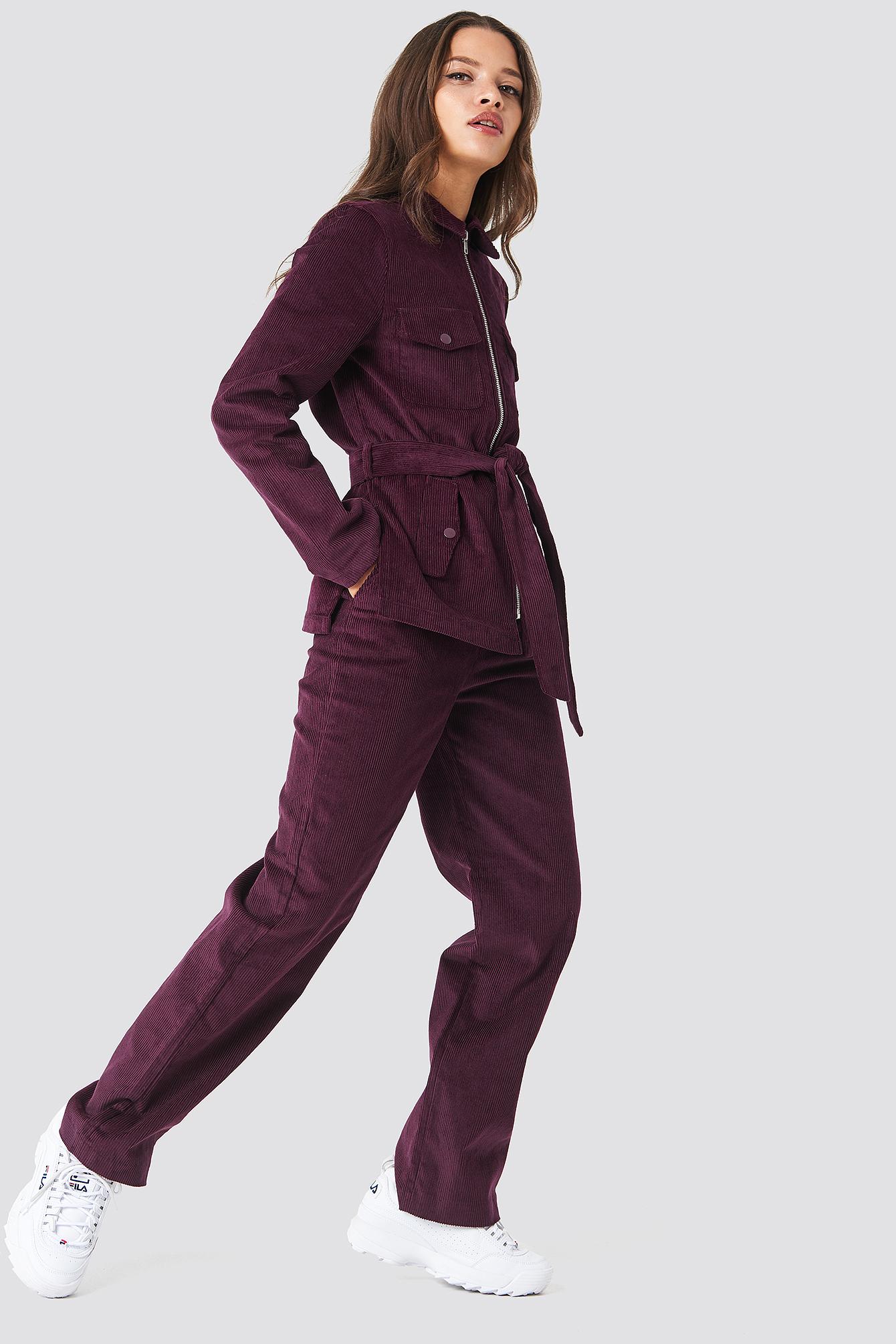 Straight Corduroy Pants NA-KD.COM